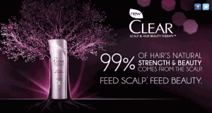 clear hair care free sample