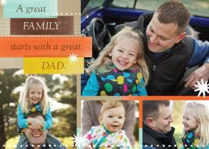 treat father's day card