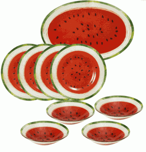 watermelon dishes set