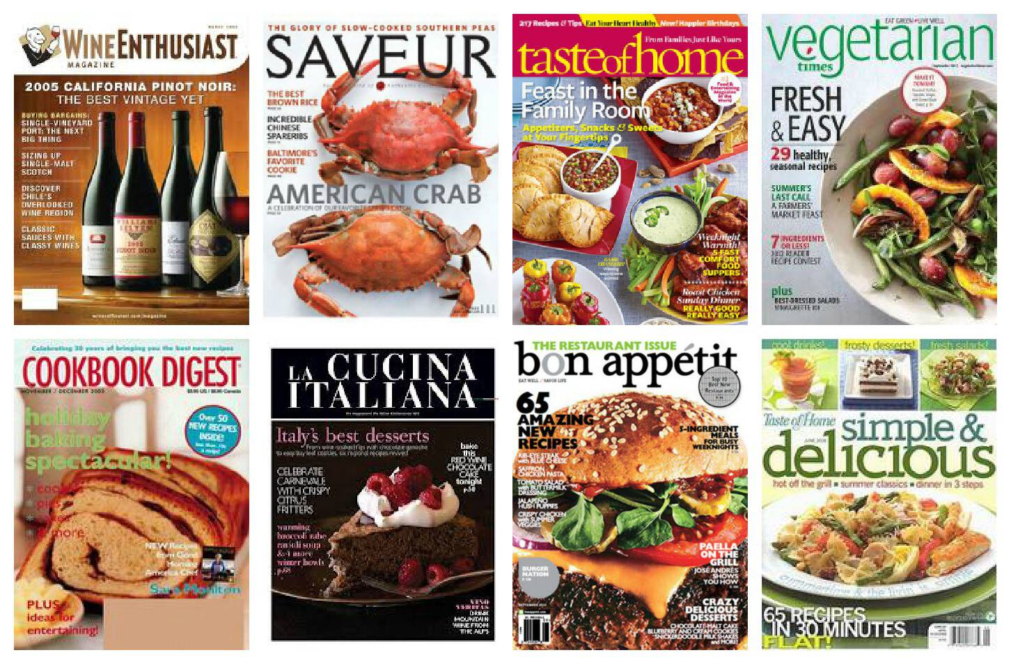 food and cooking magazines