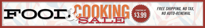 Food & Cooking Magazine Sale