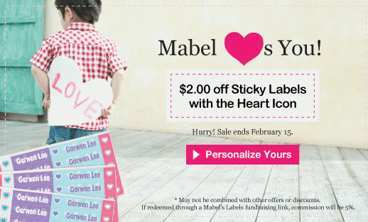 mabel's labels heart stickers