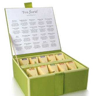 Tea forte tea chest sampler.