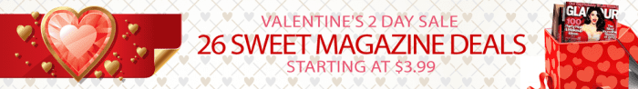 valentine's day magazine sale
