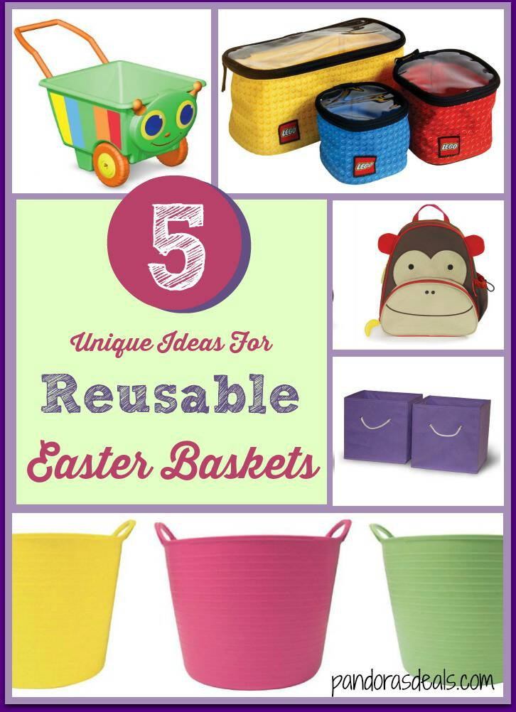 Want to get the most bang for your buck this Easter? Use one of these ideas for reusable Easter baskets for your kids and get use out of it year round.