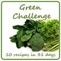 Green Food Challenge Button