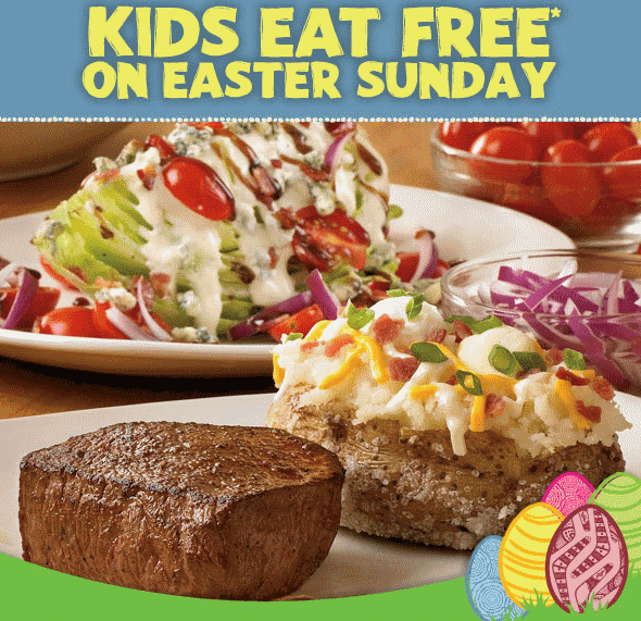 Outback Easter Sunday Kids Eat Free