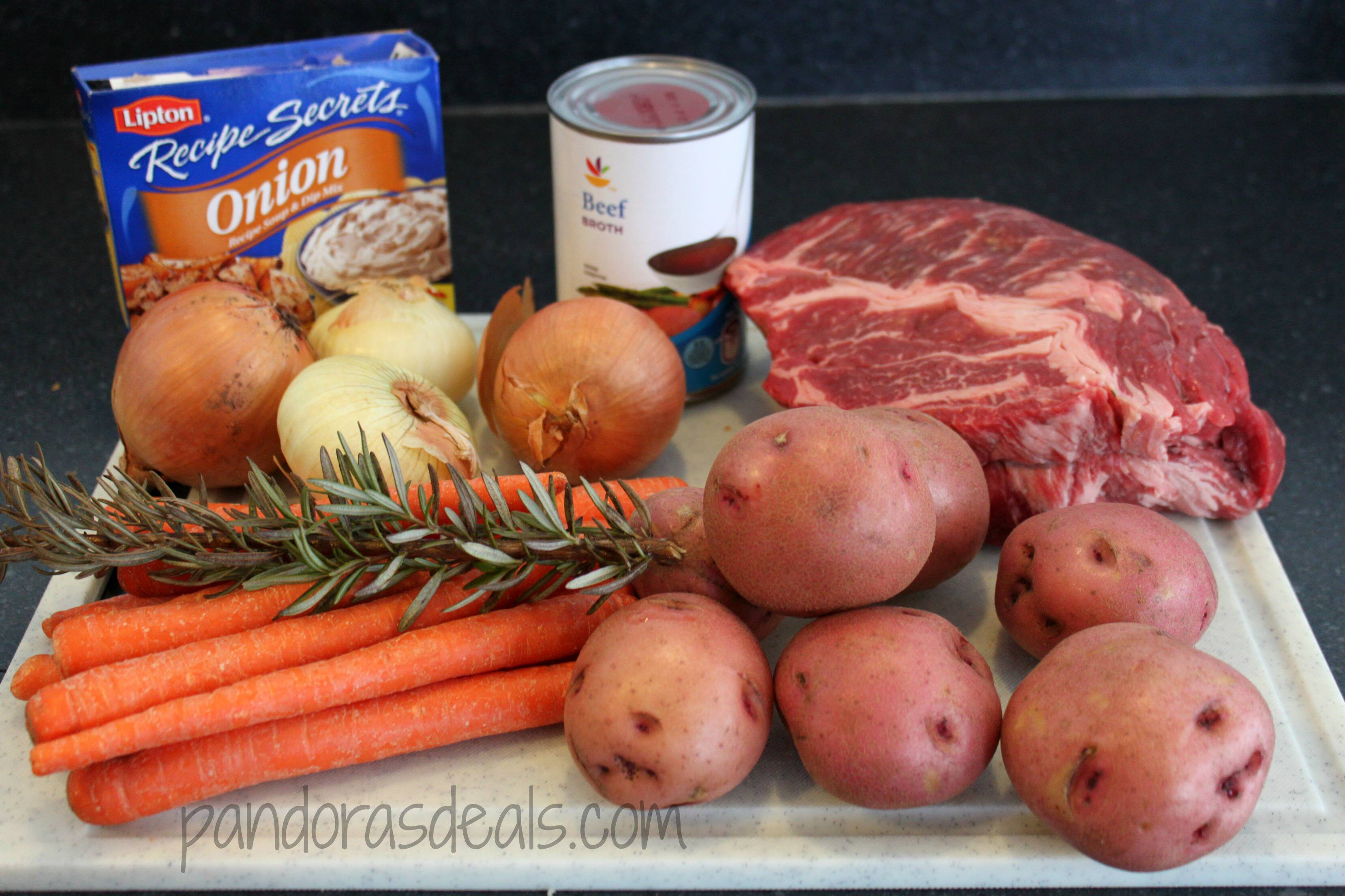 This Slow Cooker Pot Roast Dinner is perfect for a cold fall or winter day. A snap to make and a delicious easy dinner recipe.