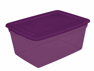 purple storage tote  sc 1 st  See Mom Click & Walmart: Storage Totes As Low As $3.88 Each + Free In-Store Pick Up ...