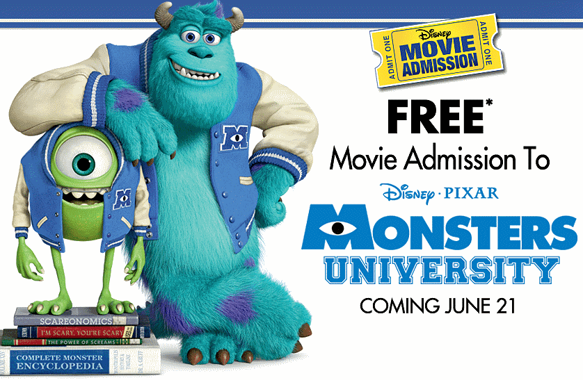 monsters University Tickets
