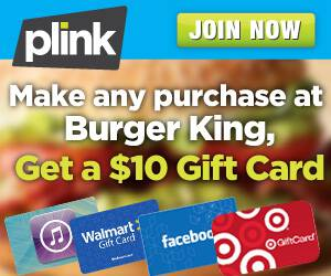 burger king plink offer