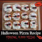Halloween Pizza Recipe: Personal Mummy Pizzas