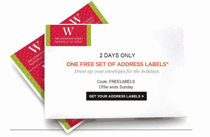shutterfly free address labels