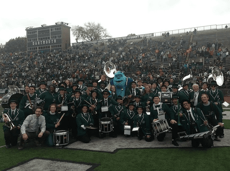 Sulley with the Dartmouth Band