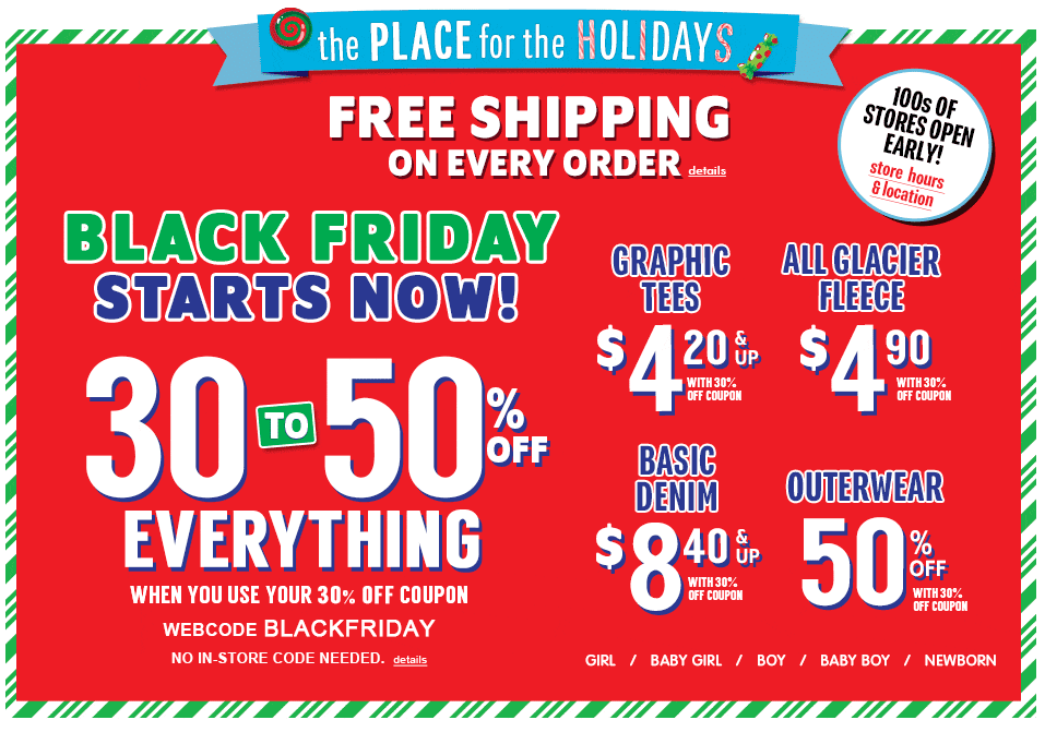 The Children's Place Black Friday Sale