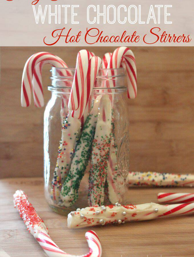 Candy Cane White Chocolate Hot Chocolate Stirrers