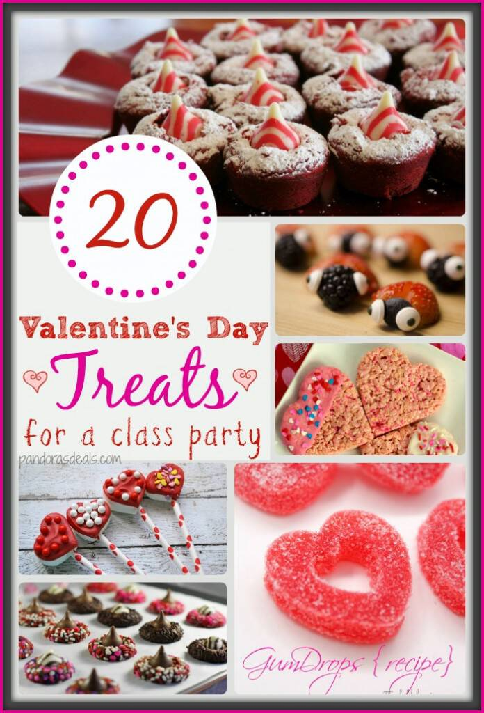 Are your kids having class parties to celebrate Valentine's Day? Here are 20 fantastic Valentine's Day treats that are perfect to make for the celebration!