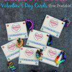 Rainbow Loom Valentine's Day Cards {Free Printable}