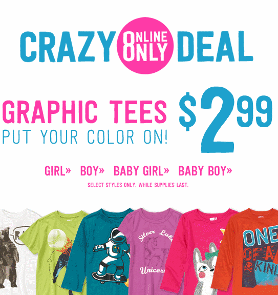 graphic tees from crazy 8