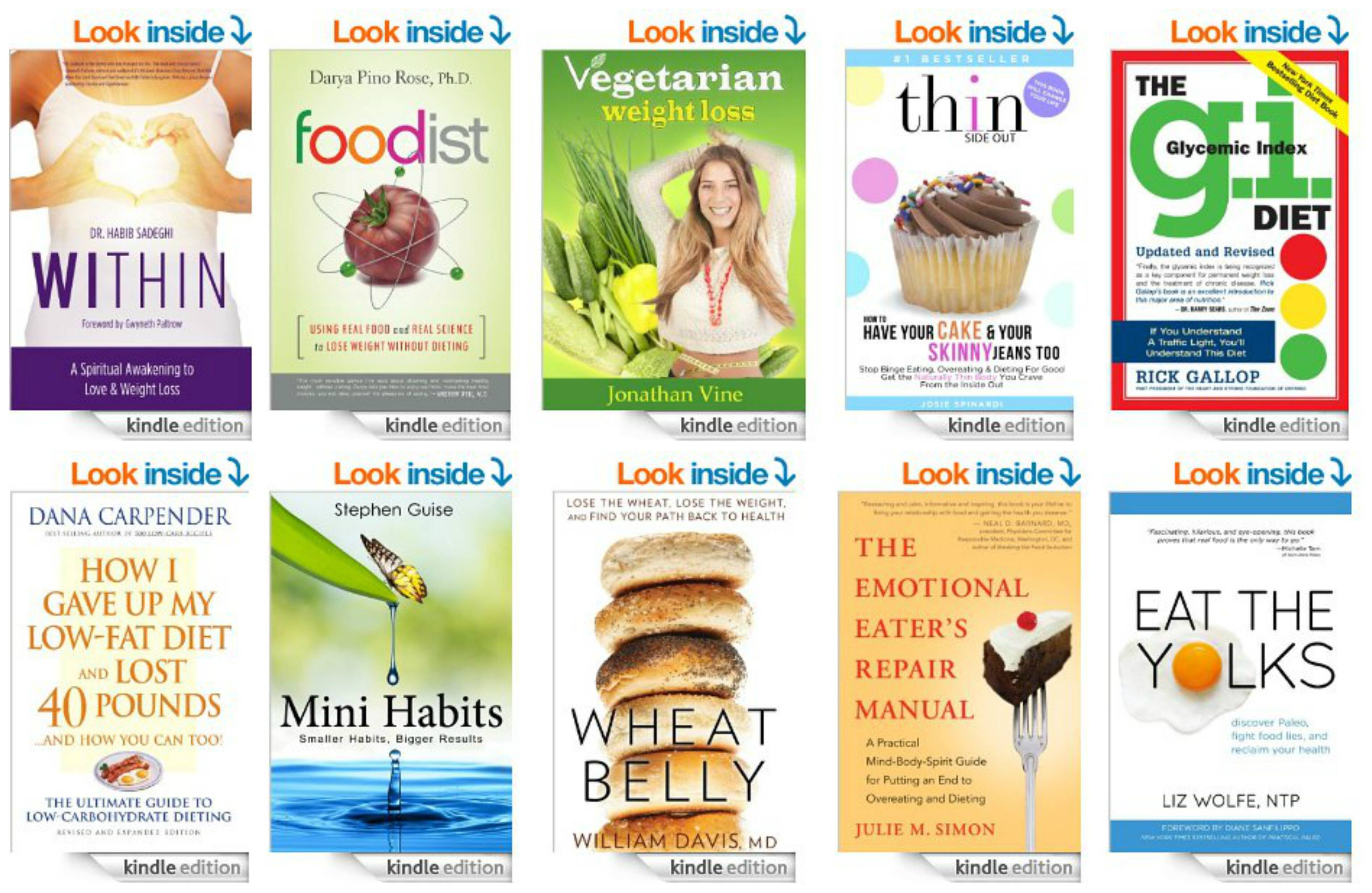 Top 10 Kindle Books on Weight Loss