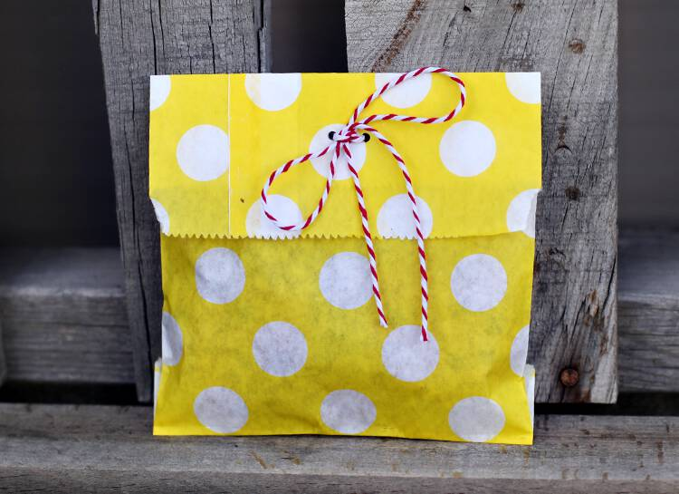polka dot favor sacks
