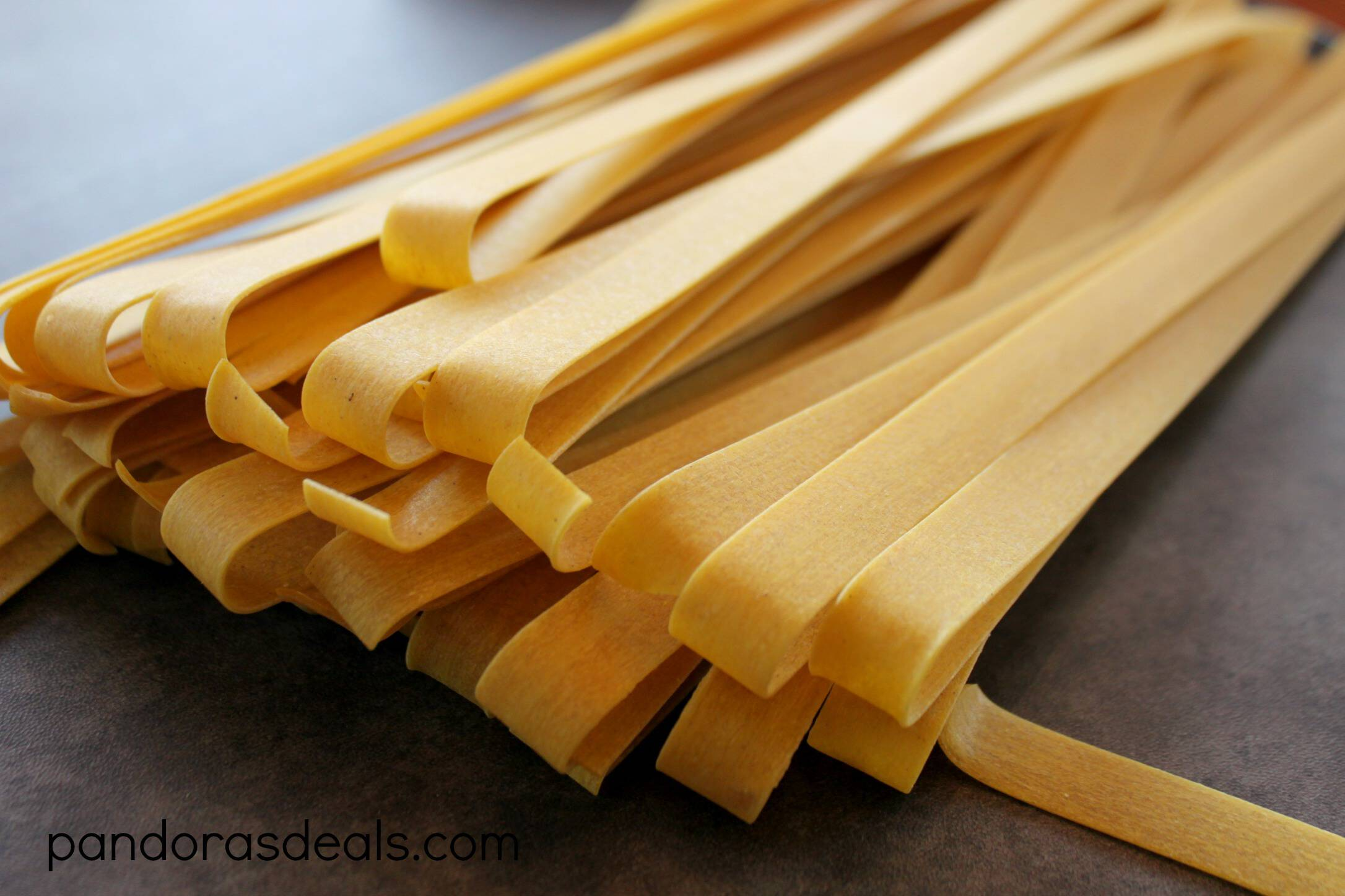 Yellow Bell Pepper Pappardelle Pasta