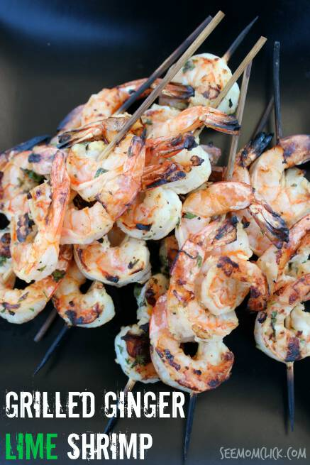 Summertime is when we break out our favorite grilling recipes and this Grilled Ginger Lime Shrimp is so easy and flavorful. A total win for a summer cookout recipe!
