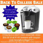 College Keurig Sale