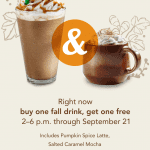 Starbucks BOGO Fall Drinks
