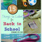 15 Things to Label for Back-to-School