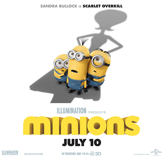 The new Universal Pictures MINONS Movie trailer is awesome! Check it out, and mark your calendars for this one to come out in theaters on July 15, 2015.
