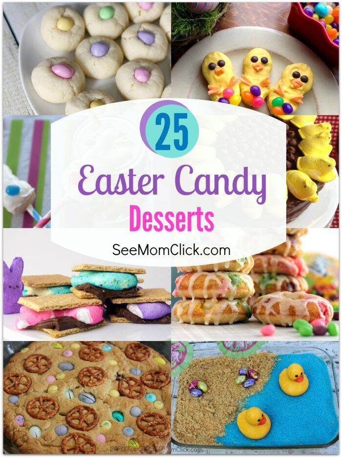 Save some of that Easter candy in the baskets to make one or two of these delish Easter candy dessert recipes. I've got 25 tasty Easter ideas for you here!