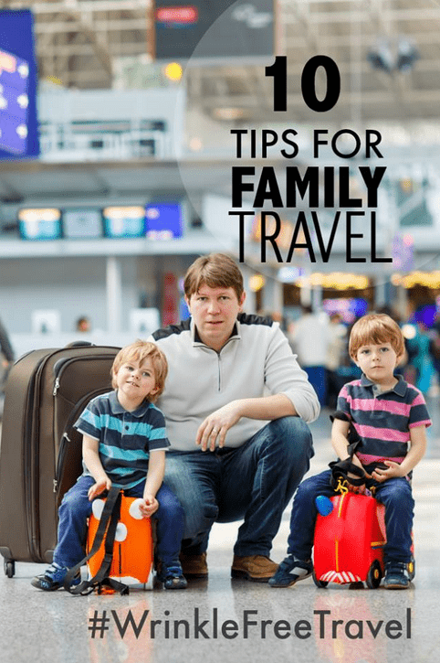 Tis the season to be planning those family vacations. Our moms are sharing our top tips for family travel with a great new solution for wrinkle free travel!