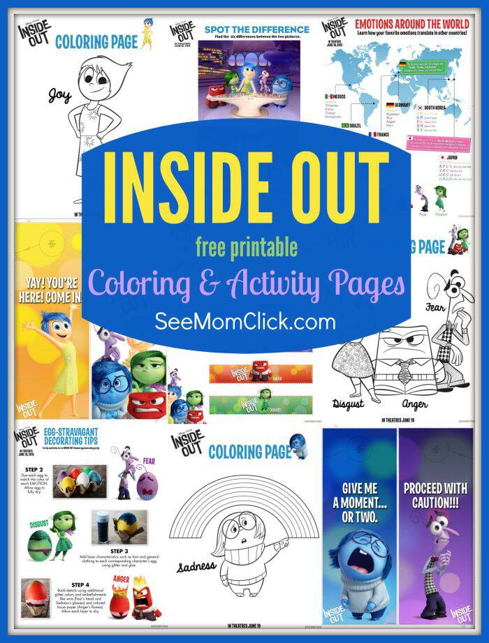 Disney Pixar 39 sINSIDE OUT Coloring