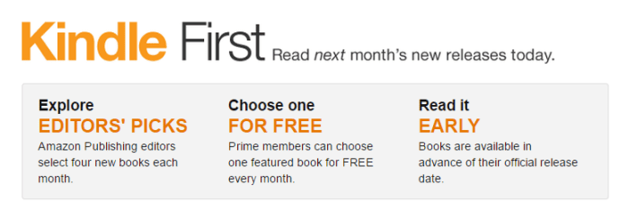 May Kindle First Books