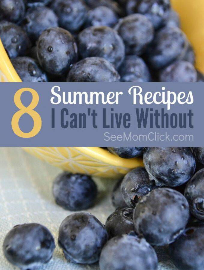 Summer food might be my favorite. Grilling recipes, fruit, lotsa veggies from the garden and tons of snacks for kids! Here are my 8 favorite summer recipes.