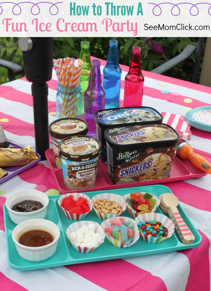 Summer food is the best, especially ice cream! Here's how we threw the best ice cream party with our favorite flavors and toppings & some easy decorations!