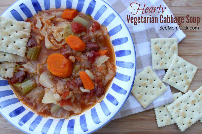 On a cool fall day this Hearty Vegetarian Cabbage Soup recipe is my go-to. Easy to make, delicious, and healthy, made with Cento products. Warm ya right up!