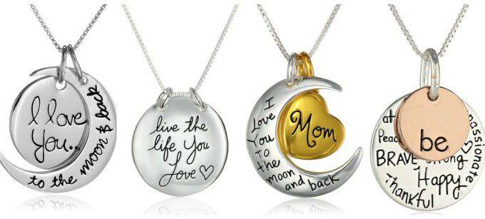 Pendant Message Necklaces