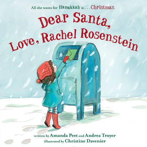 This sweet & funny new children's book is perfect for the holidays. Dear Santa, Love, Rachel Rosenstein is a story of a Jewish girl at Christmastime.