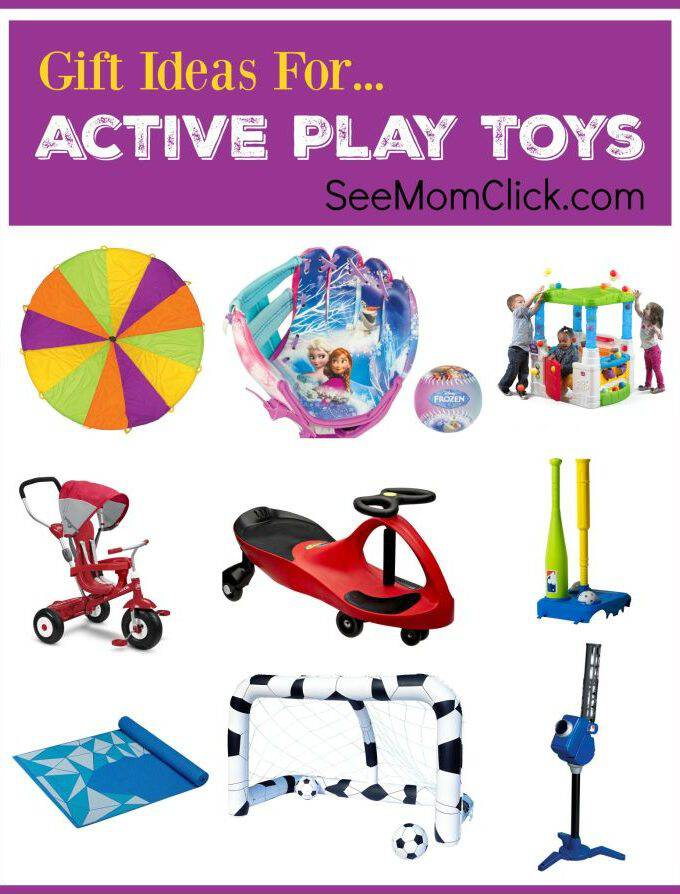 It's hard to keep the kids physically active in the winter, so I love some of these active play toy ideas for Christmas gifts!