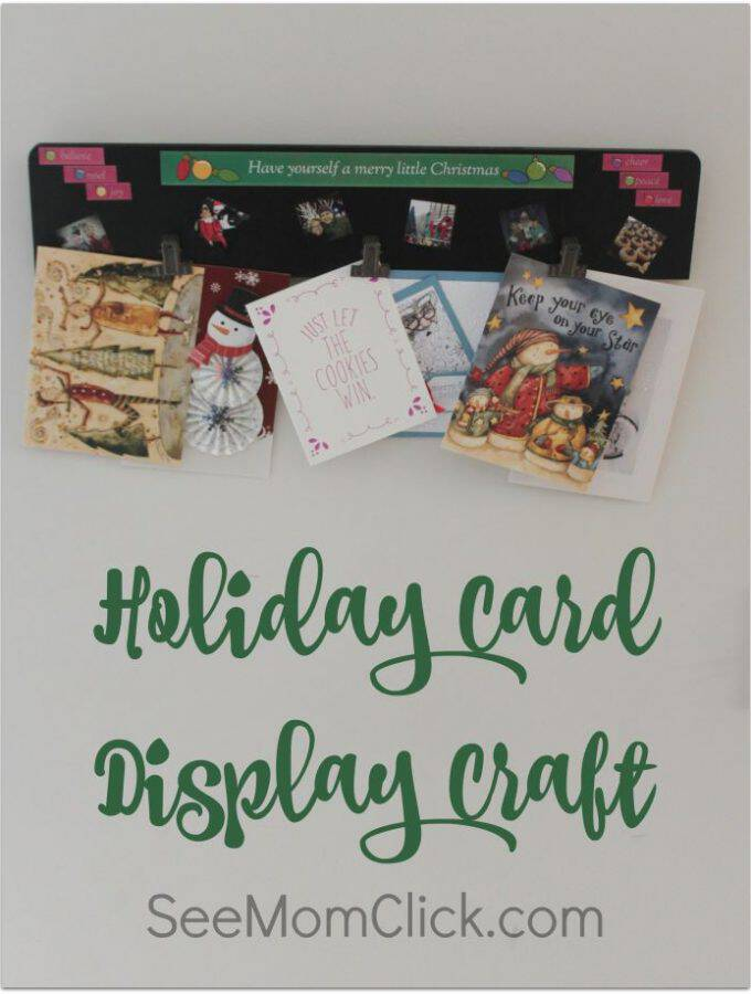 THis Holiday Card Display Craft is really easy to make and so fun to personalize with the ZINK hAppy printer. Here are the simple instructions.