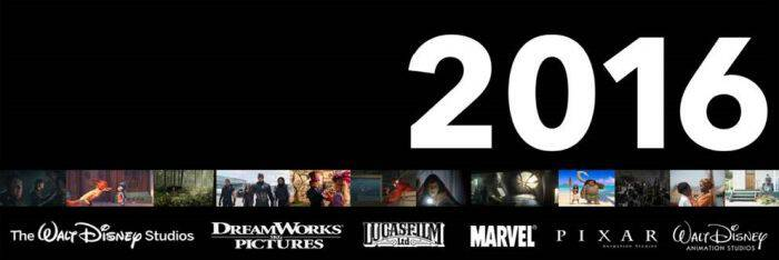 2016 Walt Disney Studios Motion Pictures line-up looks amazing with 14 new films from Disney Animation, Marvel, Dreamworks, Pixar, and Lucasfilm. Wow!