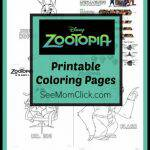 I have a bunch of free printable ZOOTOPIA Coloring Pages and activity sheets here with some funny new movie clips. In theaters March 4, 2016.