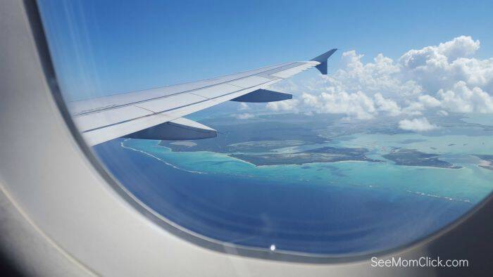 Turks and Caicos from plane