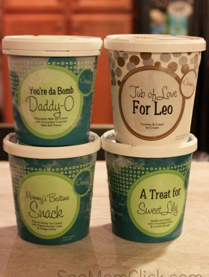 I have a new favorite gift to give! Order custom ice cream delivered by eCreamery and WOW your friends and family. Create your own labels and flavors!