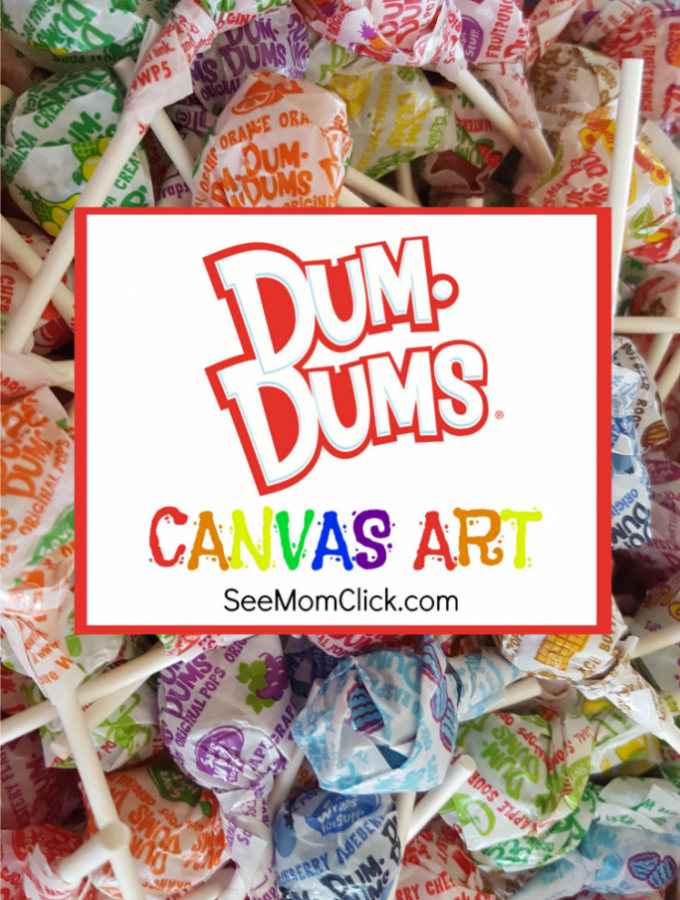 Colorful Craft Project: Dum Dums Canvas Art