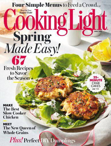 Foodies, here's a rare discount on a highly rated magazine! Grab a subscription to Cooking Light magazine for only $10 per year!