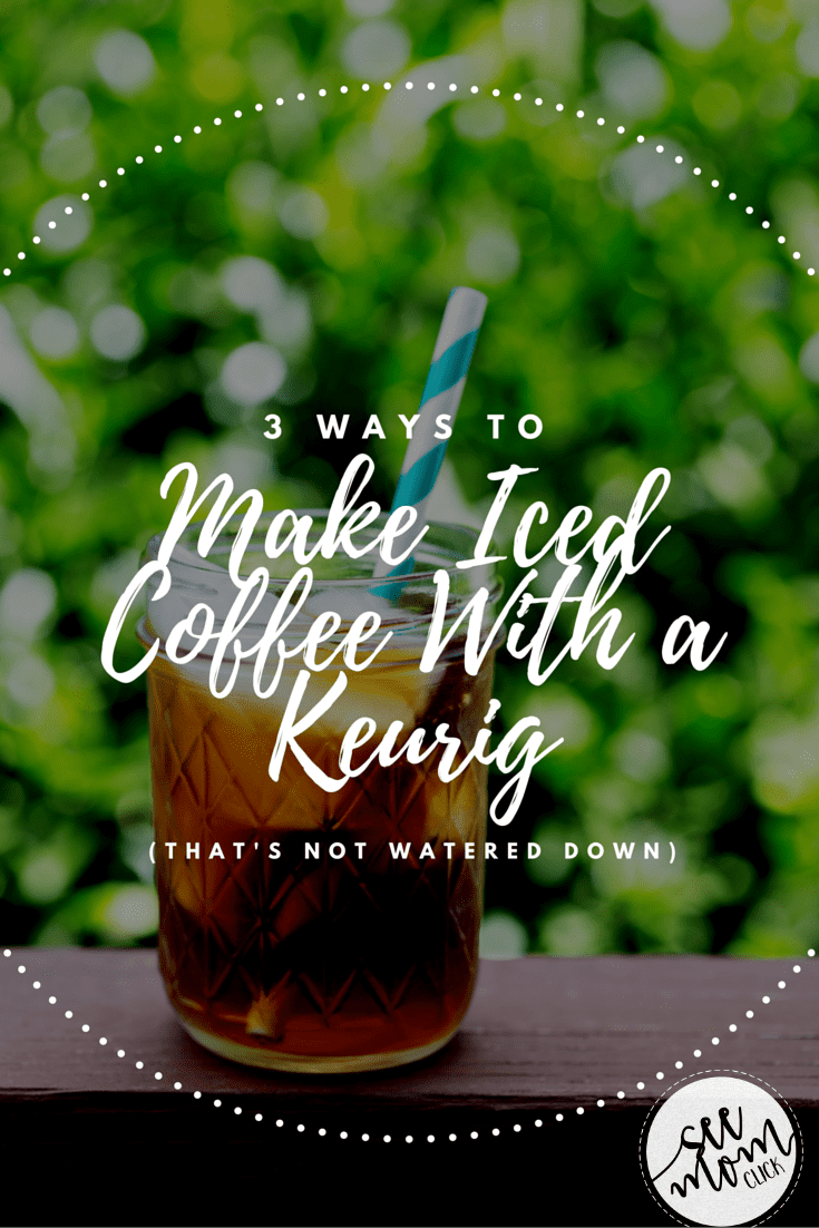 Want to know how to make iced coffee with a Keurig without it being watered down? I've got 3 tricks for you to make the perfect cup of cold java!