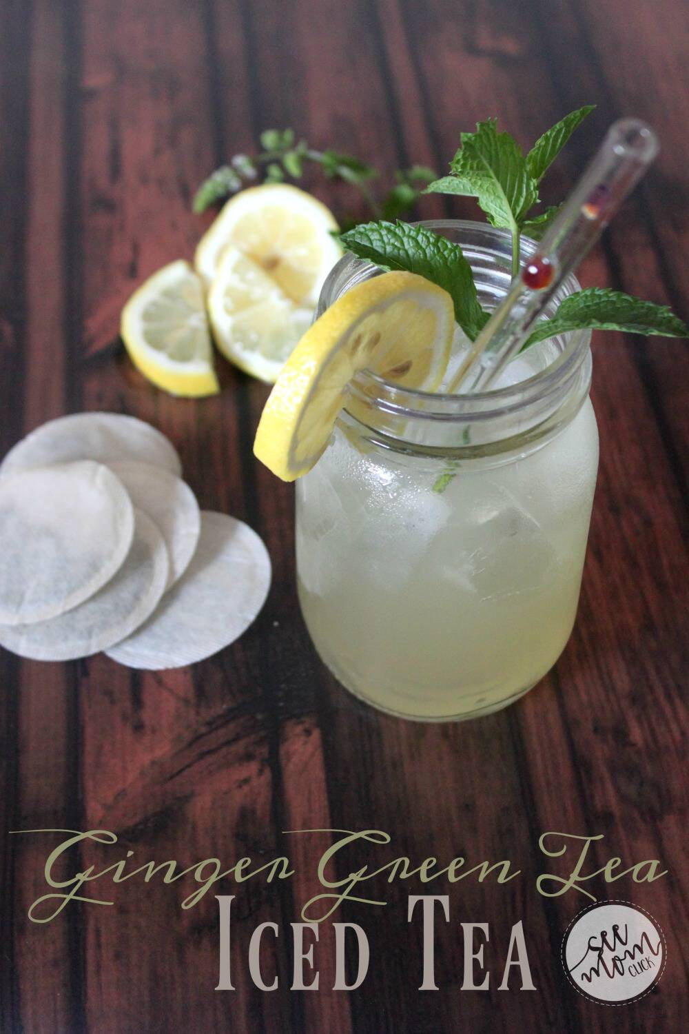 This Ginger Green Tea Iced Tea recipe is really easy to make and so refreshing. It's packed with healthful ingredients and delicious flavor. A perfect summer drink or afternoon pick-me-up!